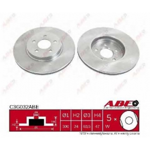 ABE C3G032ABE Тормозной диск Ягуар Икс Тайп