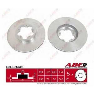 ABE C3G036ABE Тормозной диск Форд Транзит Торнео