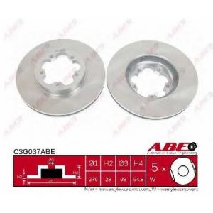 ABE C3G037ABE Тормозной диск Форд Транзит Торнео