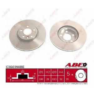 ABE C3G039ABE Тормозной диск Форд С-Макс