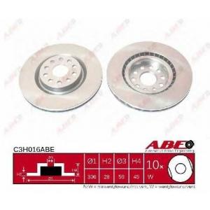 ABE C3H016ABE Тормозной диск Лансия