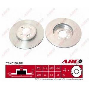 ABE C3K015ABE Тормозной диск Мини