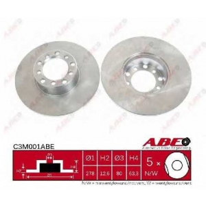 ABE C3M001ABE Тормозной диск Мерседес Купе