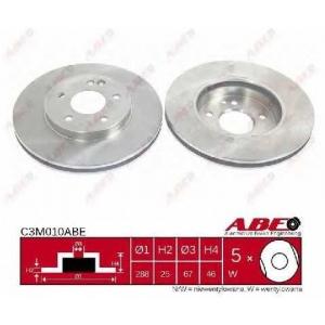 ABE C3M010ABE Тормозной диск Мерседес Цлц-Класс