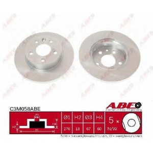 ABE C3M058ABE Тормозной диск Мерседес В Класс