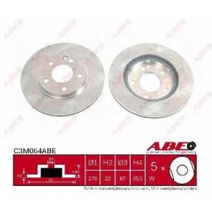 ABE C3M064ABE Тормозной диск Мерседес Ванео