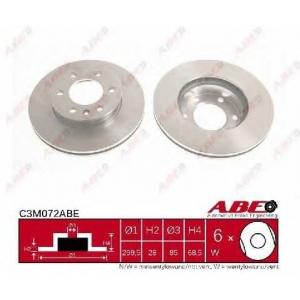 ABE C3M072ABE Тормозной диск Мерседес Спинтер 5Т