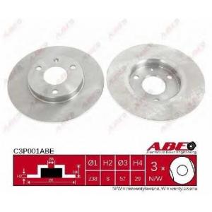 ABE C3P001ABE Тормозной диск Ситроен Ах