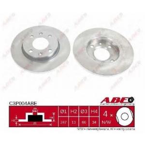 ABE C3P004ABE Тормозной диск Ситроен Ксара