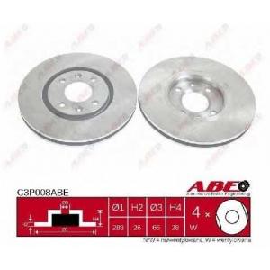 ABE C3P008ABE Тормозной диск Ситроен Ксантия Брейк