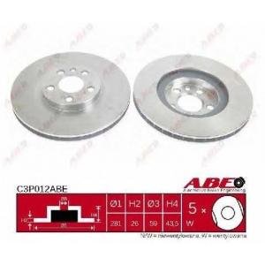 ABE C3P012ABE Тормозной диск Фиат