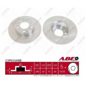 ABE C3P016ABE Тормозной диск Фиат Дукато