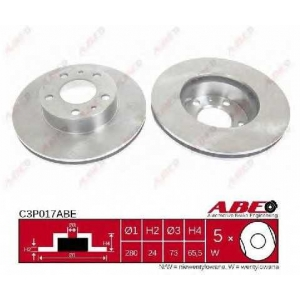 ABE C3P017ABE Тормозной диск Фиат Дукато