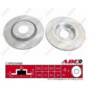 ABE C3P024ABE Тормозной диск Ситроен С4