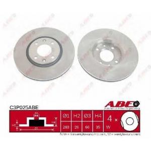 ABE C3P025ABE Тормозной диск Ситроен С4