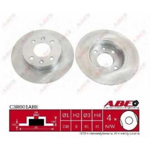 ABE C3R001ABE Тормозной диск Рено Рапид