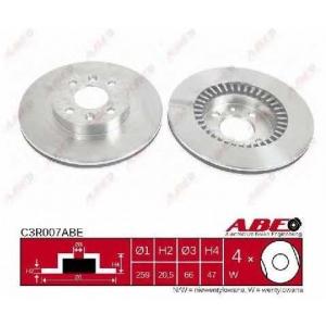 Тормозной диск c3r007abe abe - RENAULT 18 (134_) седан 1.6 Turbo (1345)