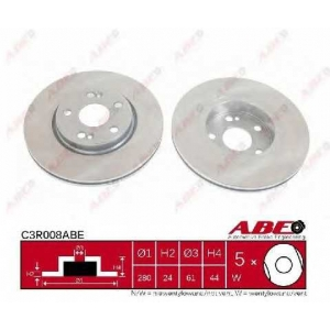 ABE C3R008ABE Тормозной диск Рено Сценик