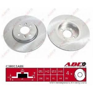 ABE C3R011ABE Тормозной диск Рено Сценик