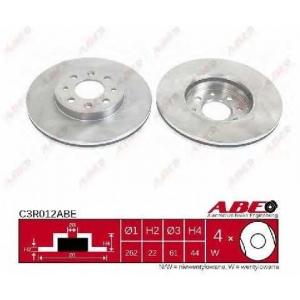 ABE C3R012ABE Тормозной диск Рено Меган
