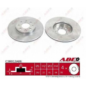 ABE C3R012ABE Тормозной диск Рено Сафране