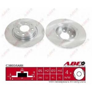ABE C3R034ABE Тормозной диск Дача Сандеро