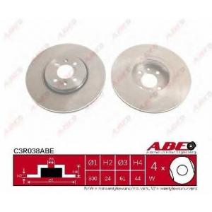 ABE C3R038ABE Тормозной диск Рено Сценик