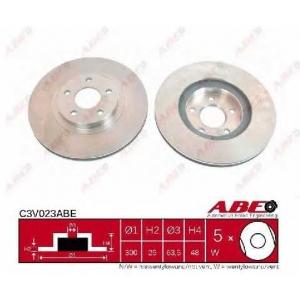 ABE C3V023ABE Тормозной диск Форд Фокус Ц-Макс