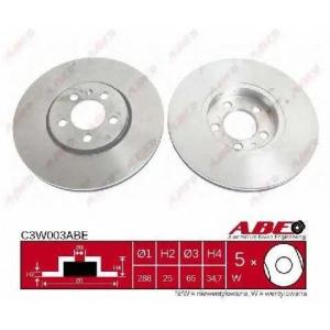 ABE C3W003ABE Тормозной диск Ауди А3