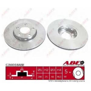ABE C3W018ABE Тормозной диск Ауди А6