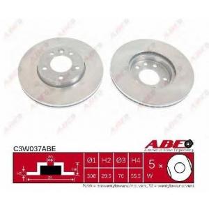 Тормозной диск c3w037abe abe - VW TRANSPORTER V автобус (7HB, 7HJ, 7EB, 7EJ, 7EF) автобус 2.0 TDI