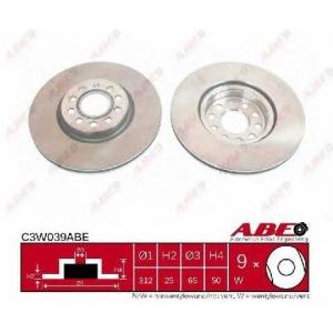 ABE C3W039ABE Тормозной диск Ауди Тт