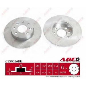 ABE C3X001ABE Тормозной диск Опель Корса