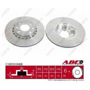 ABE C3X004ABE Тормозной диск Опель Тигра