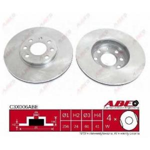 ABE C3X006ABE Тормозной диск Опель Зафира