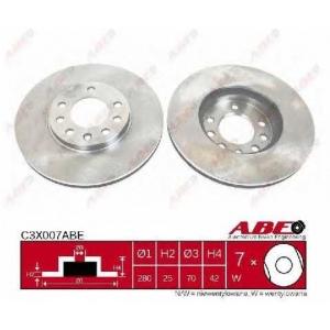 ABE C3X007ABE Тормозной диск Шевроле Зафира