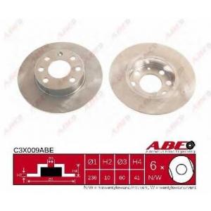 ABE C3X009ABE Тормозной диск Опель Корса