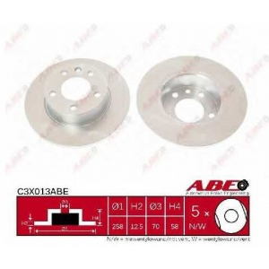 ABE C3X013ABE Тормозной диск Опель Омега