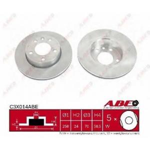 ABE C3X014ABE Тормозной диск Опель Омега