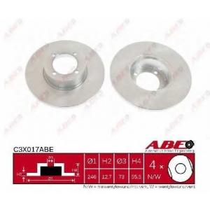 ABE C3X017ABE Тормозной диск Опель Кадет