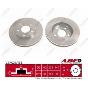 ABE C3X023ABE Тормозной диск Опель Синтра
