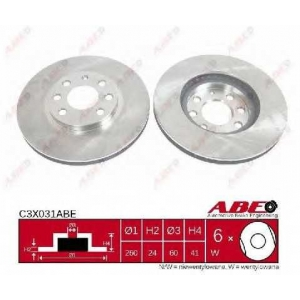 ABE C3X031ABE Тормозной диск Опель Комбо