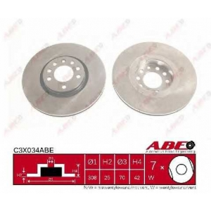 ABE C3X034ABE Тормозной диск Опель Зафира