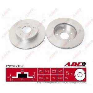 ABE C3Y012ABE Тормозной диск Джип Гранд Чероки