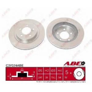 ABE C3Y024ABE Тормозной диск Крайслер 300
