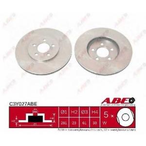 ABE C3Y027ABE Тормозной диск Додж Стратус