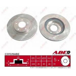 ABE C3Y028ABE Тормозной диск Крайслер Себринг