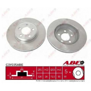 ABE C3Y035ABE Тормозной диск Крайслер 300