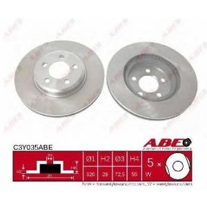ABE C3Y035ABE Тормозной диск Додж Чарджер
