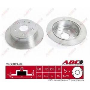 ABE C40002ABE Тормозной диск Дэу Леганза